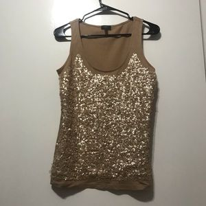 Talbots gold sequin top!